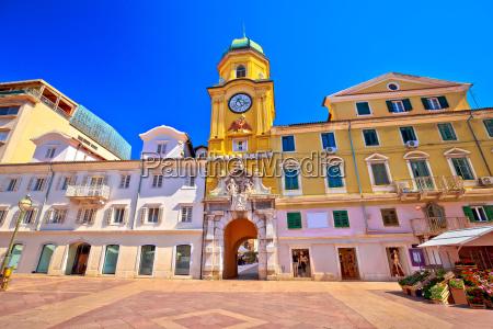 city of rijeka main square and