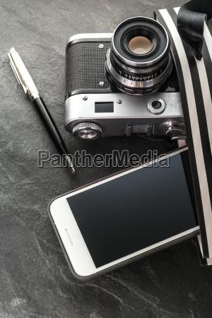 phone camera pen in a black
