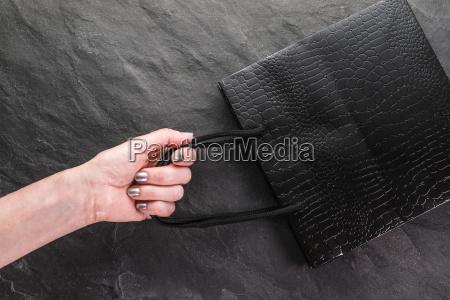black friday sale a female hand