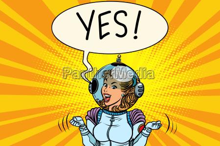 yes winner astronaut woman