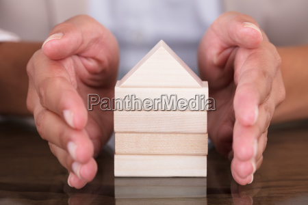 hand covering model home made from