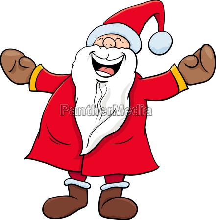 happy santa claus christmas character