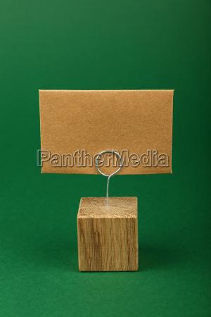 blank brown kraft paper sign on