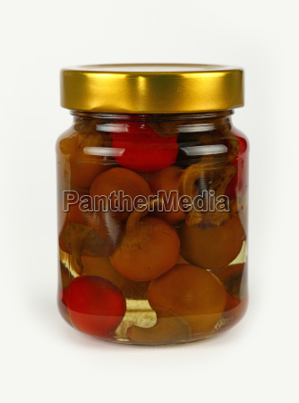 jar of pickled red and green