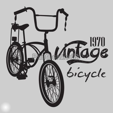 retro bicycle vintage design vector