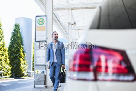 businessman on a business trip