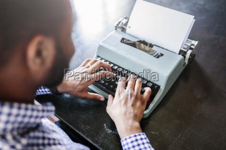 close up of man at desk