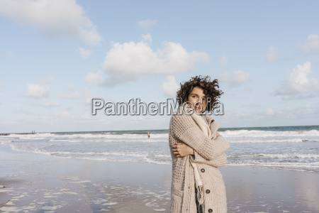 portrait of woman on the beach