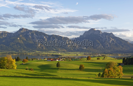 germany bavaria allgaeu lake forggensee neuschwanstein