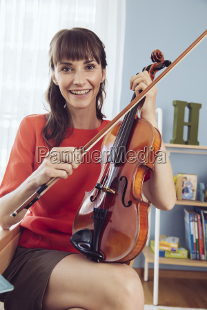 portrait of a woman with violin