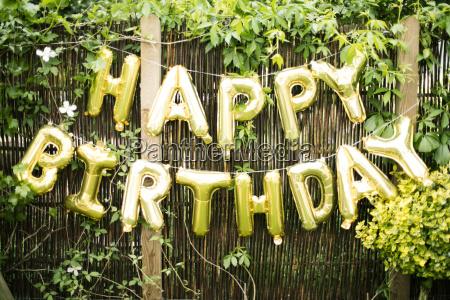 decoration for birthday party in garden