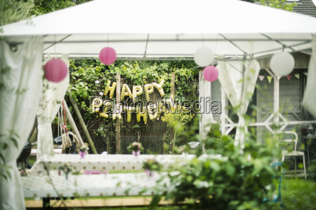 preparation for birthday party in the
