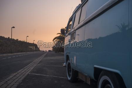 spain old van parking at roadside