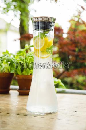 carafe of homemade lemonade