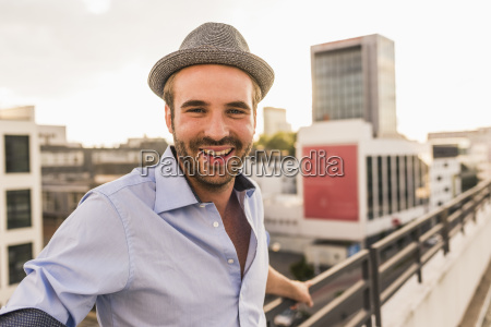 portrait of happy young man on