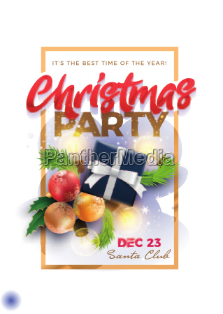 christmas pary poster design template
