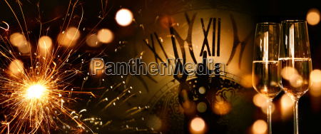 new year panorama background