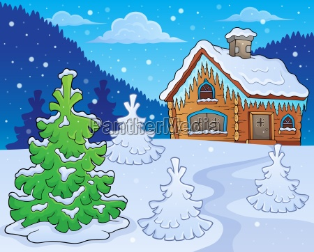 winter cottage theme image 2