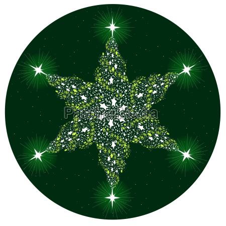 christmas tree mandala