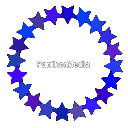 star in circle shape starry vector