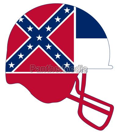 mississippi state flag football helmet