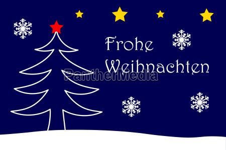 merry christmas card with christmas motive