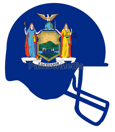 new york state flag football helmet