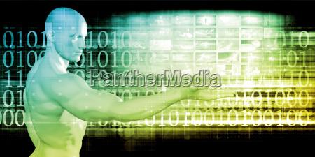 futuristic digital network