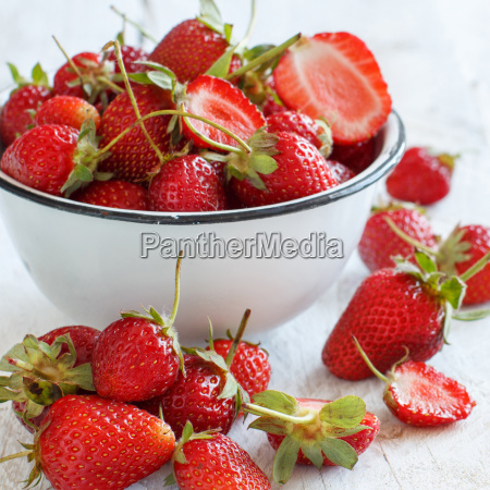 strawberries in a bowl on a
