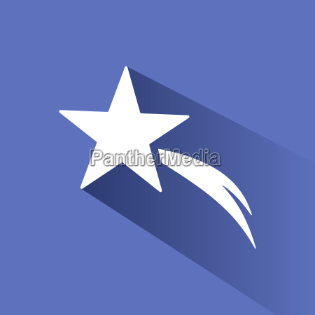 christmas star icon with shade on
