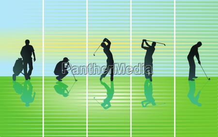 golfer on greenillustration