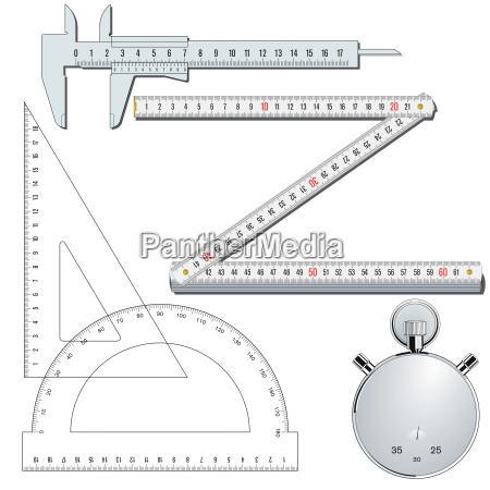 measuring tools collection illustration