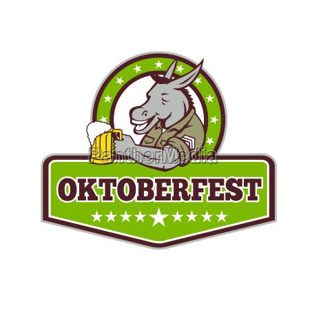 donkey beer drinker oktoberfest retro