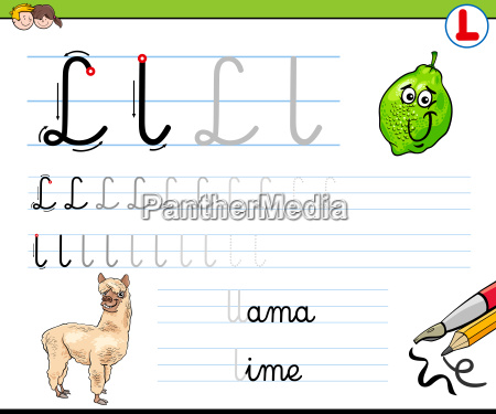 how to write letter l worksheet