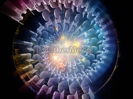 conceptual radial fractal texture
