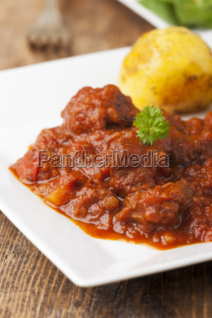 hungarian goulash with potatoes