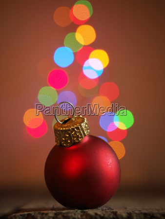 christmas background with red christmas bauble
