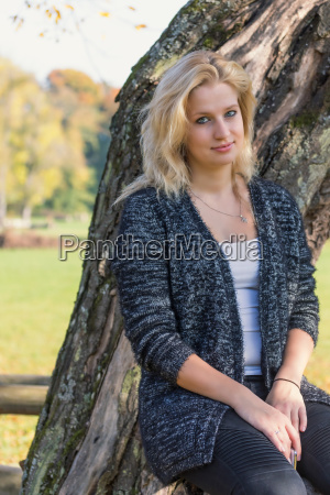 portrait of young blond woman with
