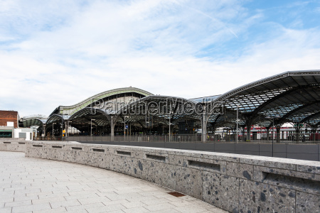 platforms of main railway station in