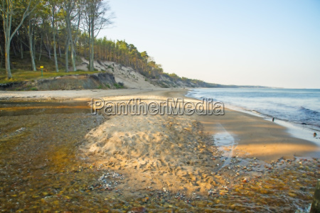 baltic sea beach in orzechowo poland