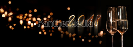 new year background panorama with sparkling