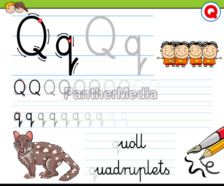 how to write letter q worksheet
