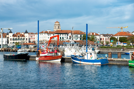 fishing harbor of st jean de