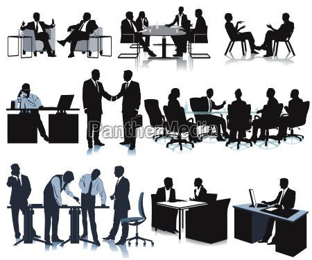 meeting in the officeconferencediscussionillustration