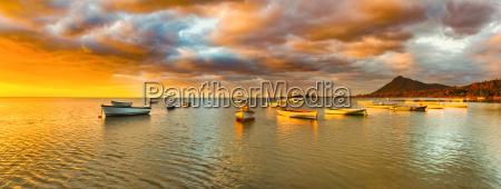 fishing boats at sunset time amazing