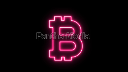 abstract background with bitcoin sign