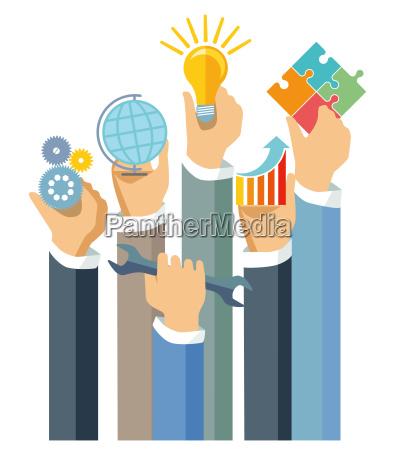 showing business achievement illustration
