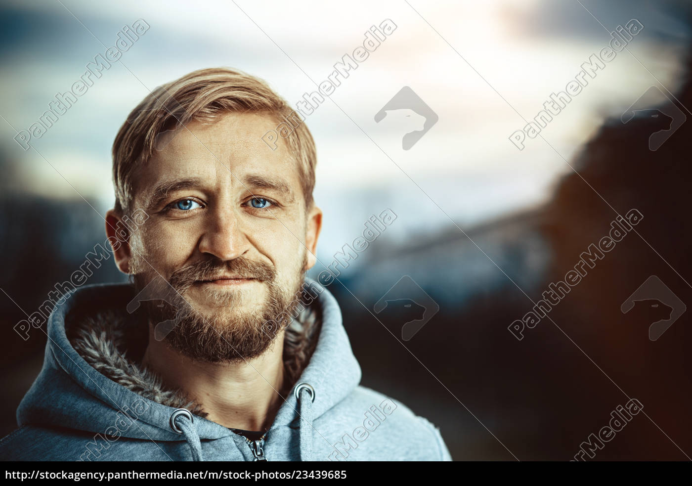 portrait, of, a, young, bearded, man - 23439685