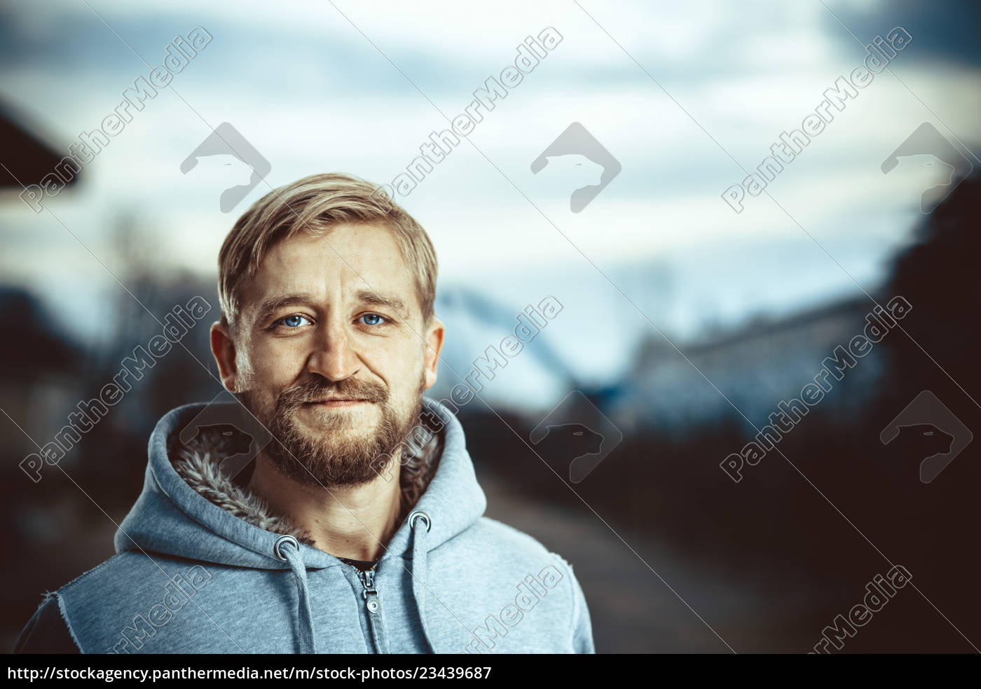 portrait, of, a, young, bearded, man - 23439687