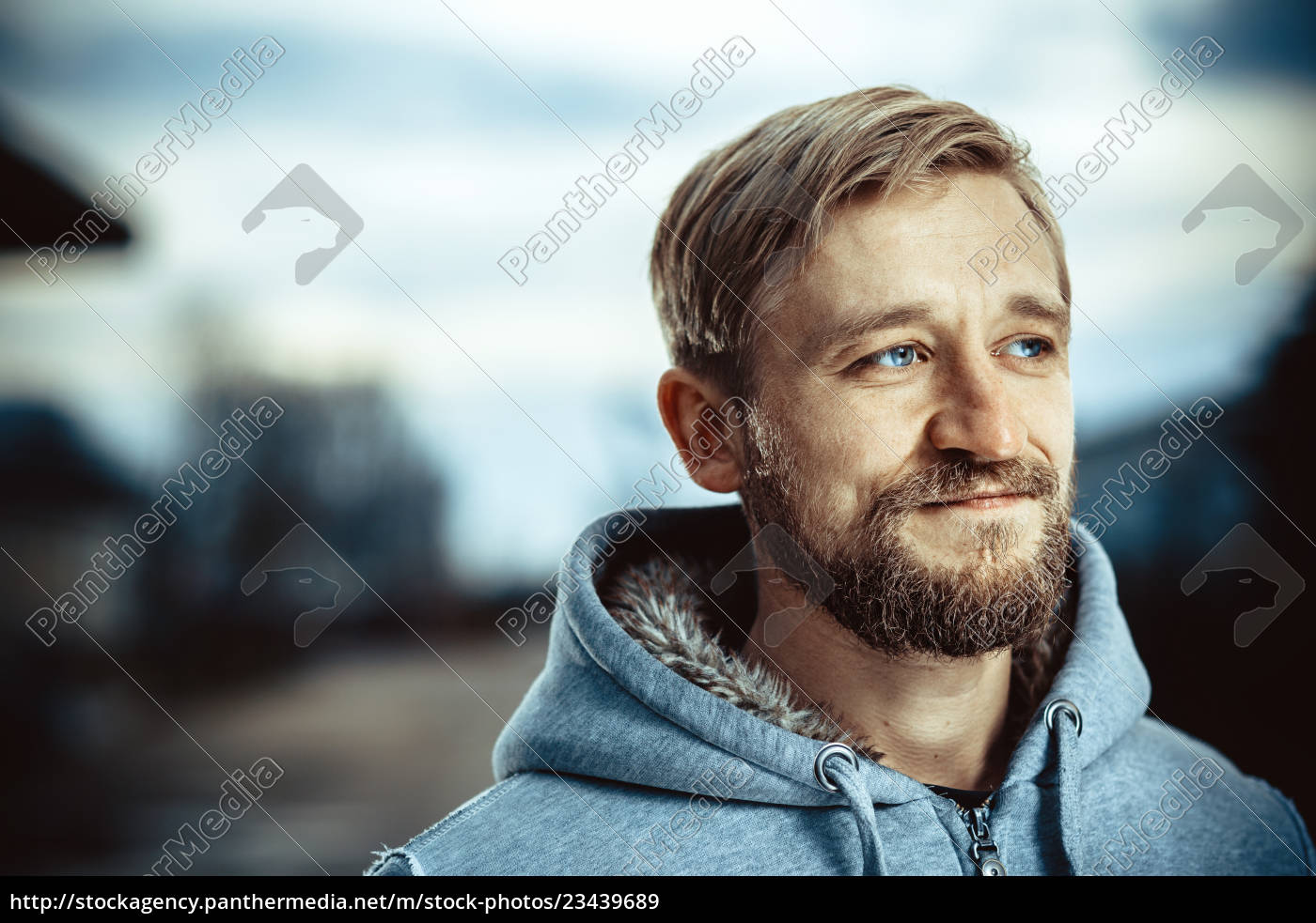 portrait, of, a, young, bearded, man - 23439689
